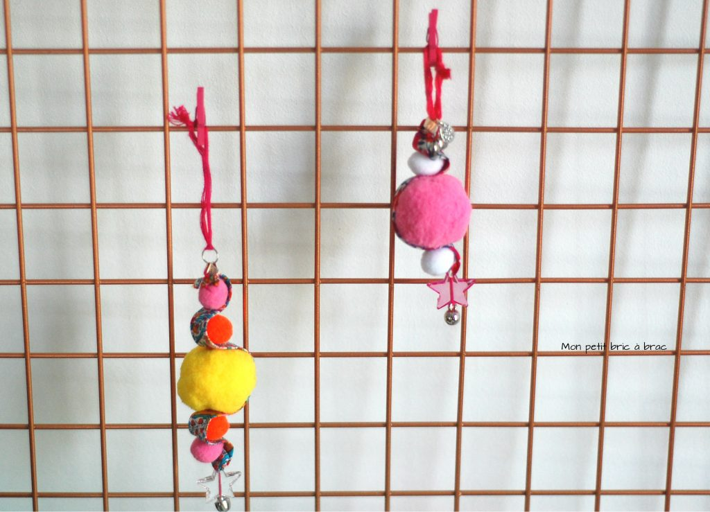 DIY - Porte clé pompoms 2